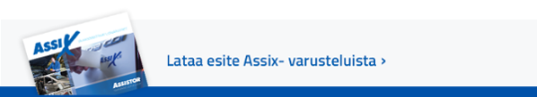 Lataa esite Assix-varusteluista